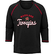 Outerstuff Youth Girls' Maryland Terrapins Overthrow Long Sleeve Black T-Shirt