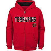 Outerstuff Youth Maryland Terrapins Red Full-Zip Fleece Hoodie