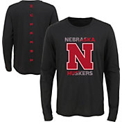 Gen2 Youth Nebraska Cornhuskers Ultra Long Sleeve Black T-Shirt