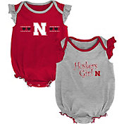 Gen2 Infant Nebraska Cornhuskers Scarlet/Grey Homecoming 2-Piece Onesie Set
