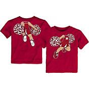 Outerstuff Toddler Nebraska Cornhuskers Scarlet Pom Pom Cheer T-Shirt