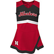 Gen2 Girls' Nebraska Cornhuskers Scarlet Cheer Captain 2-Piece Jumper Dress