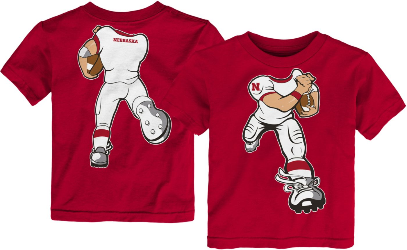 Gen2 Toddler Nebraska Cornhuskers Scarlet Football Dreams T-Shirt