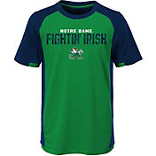 Outerstuff Youth Notre Dame Fighting Irish Green/Navy Circuit Breaker Performance T-Shirt