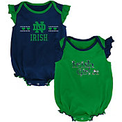 Outerstuff Infant Notre Dame Fighting Irish Navy/Green Homecoming 2-Piece Onesie Set