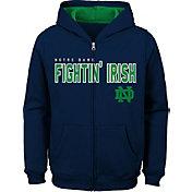 Outerstuff Youth Notre Dame Fighting Irish Navy Full-Zip Fleece Hoodie