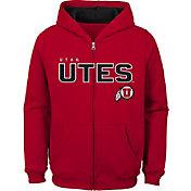Outerstuff Youth Utah Utes Crimson Full-Zip Fleece Hoodie
