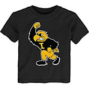 Gen2 Toddler Iowa Hawkeyes Standing Mascot Black T-Shirt