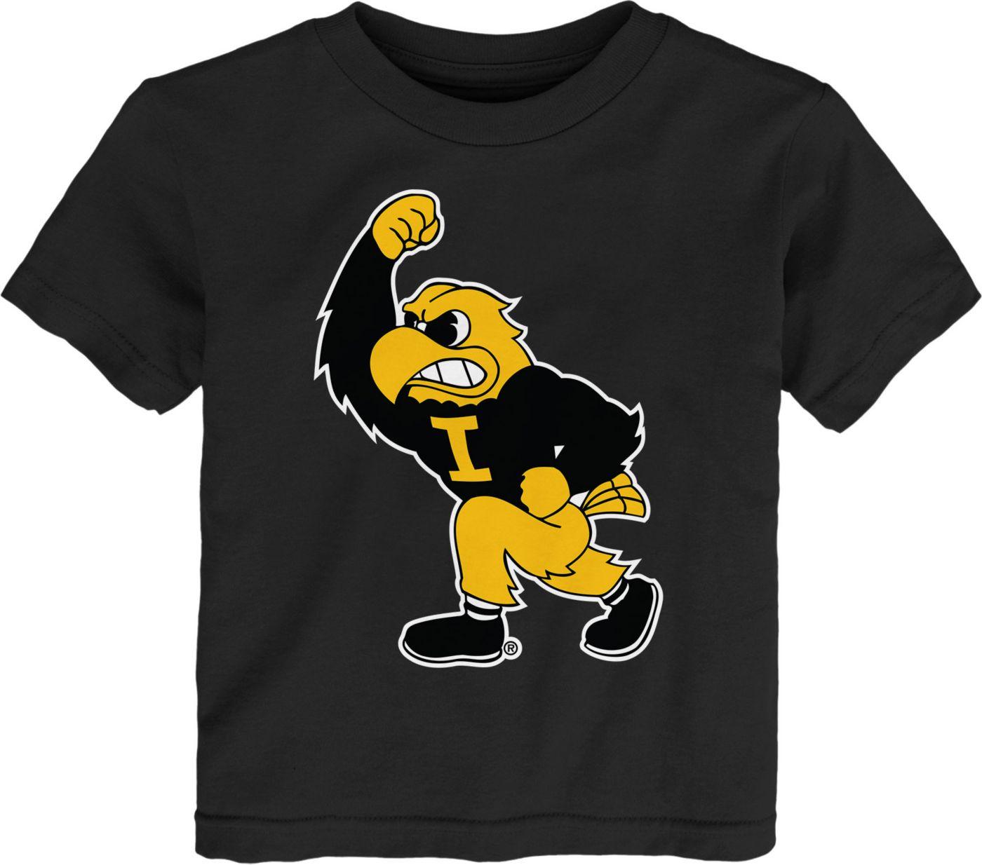 Gen2 Toddler Iowa Hawkeyes Standing Mascot Black T-Shirt
