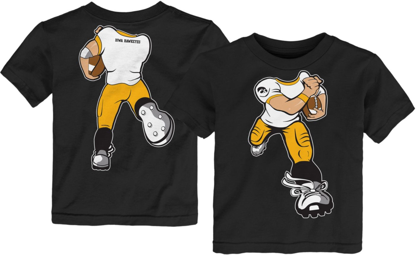 Gen2 Toddler Iowa Hawkeyes Football Dreams Black T-Shirt