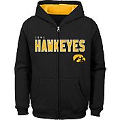 Outerstuff Youth Iowa Hawkeyes Full-Zip Fleece Black Hoodie
