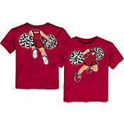 Gen2 Toddler Wisconsin Badgers Red Pom Pom Cheer T-Shirt