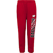 Outerstuff Youth Wisconsin Badgers Red Origin Fleece Pants