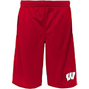 Gen2 Youth Wisconsin Badgers Red Vector Performance Shorts