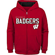 Gen2 Youth Wisconsin Badgers Red Full-Zip Fleece Hoodie