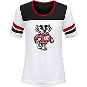 Gen2 Girls' Wisconsin Badgers White/Black Tailback T-Shirt