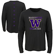 Gen2 Youth Washington Huskies Ultra Long Sleeve Black T-Shirt