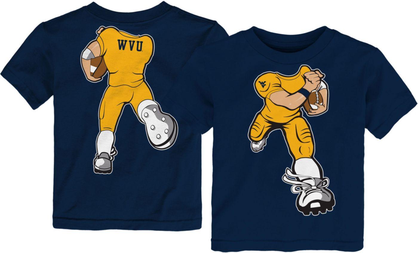 Gen2 Toddler West Virginia Mountaineers Blue Football Dreams T-Shirt