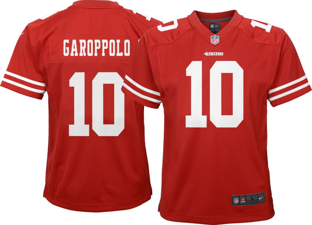 finest selection 5aa2a edb0a Nike Youth Home Game Jersey San Francisco 49ers Jimmy Garoppolo #10