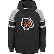 NFL Team Apparel Youth Cincinnati Bengals Linebacker Black Pullover Hoodie