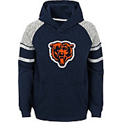 NFL Team Apparel Youth Chicago Bears Linebacker Navy Pullover Hoodie