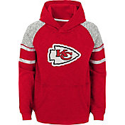 NFL Team Apparel Youth Kansas City Chiefs Linebacker Red Pullover Hoodie