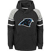 NFL Team Apparel Youth Carolina Panthers Linebacker Black Pullover Hoodie