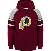NFL Team Apparel Youth Washington Redskins Linebacker Red Pullover Hoodie