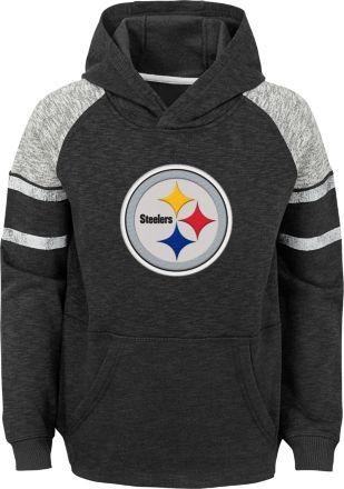 9293b0b3645 NFL Team Apparel Youth Pittsburgh Steelers Linebacker Black Pullover Hoodie