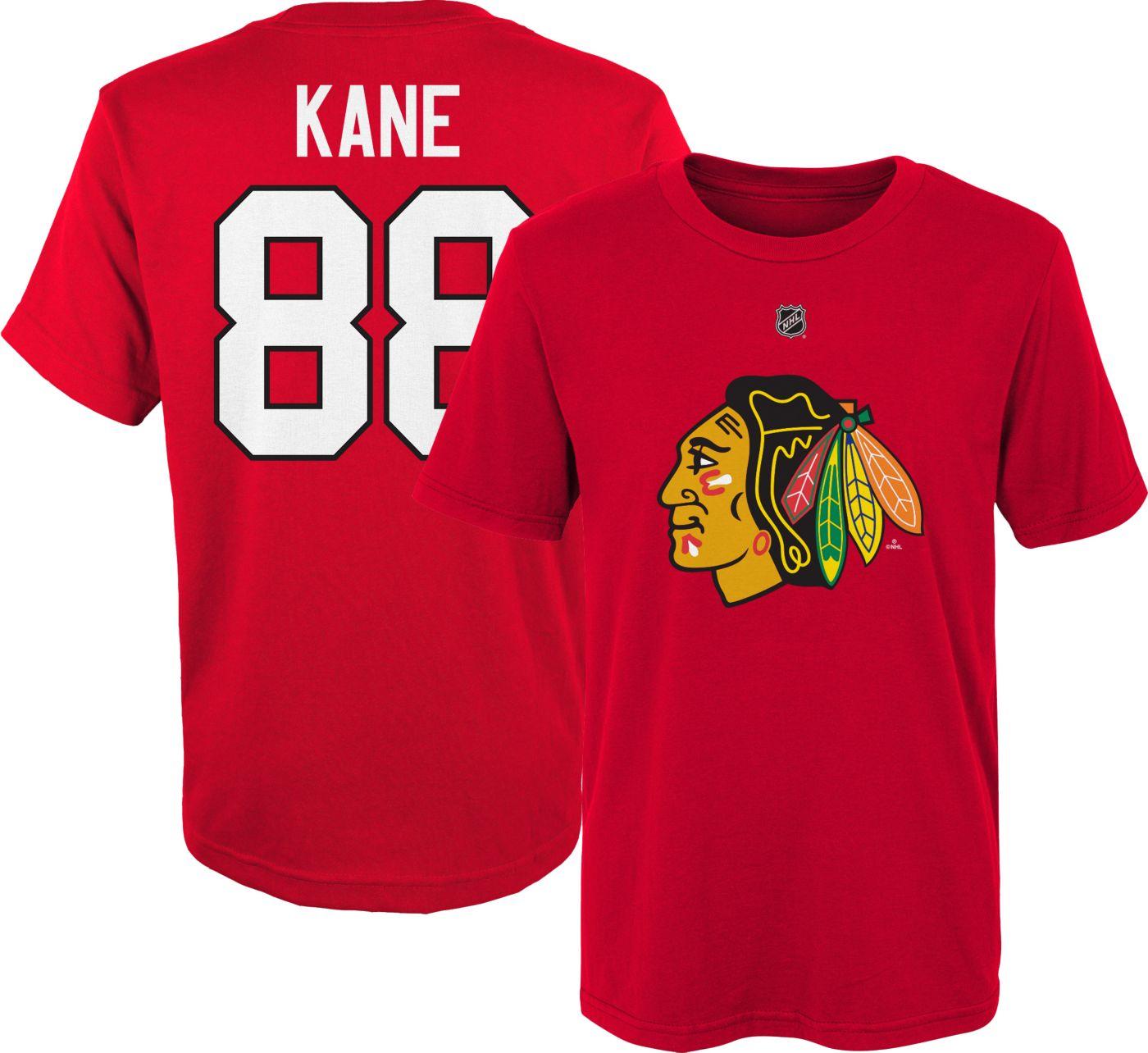 NHL Youth Chicago Blackhawks Patrick Kane #88 Red Player T-Shirt