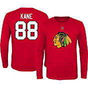 NHL Youth Chicago Blackhawks Patrick Kane #88 Red Long Sleeve Player Shirt