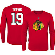 NHL Youth Chicago Blackhawks Jonathan Toews #19 Red Long Sleeve Player Shirt