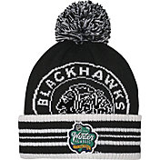 NHL Youth 2019 Winter Classic Chicago Blackhawks Black Pom Knit Beanie