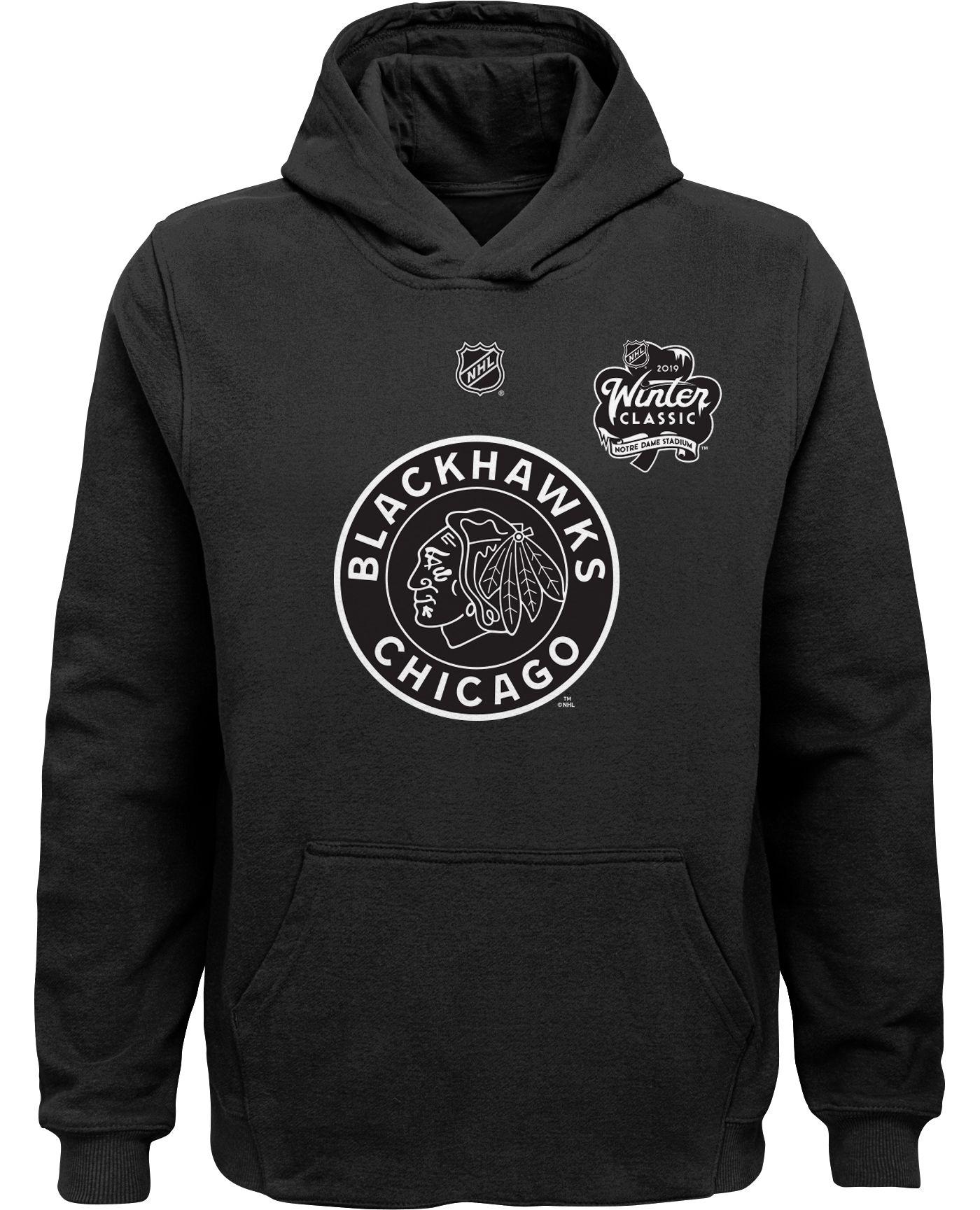 NHL Youth 2019 Winter Classic Chicago Blackhawks Logo Black Hoodie