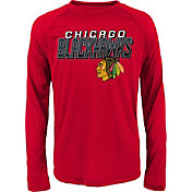 NHL Youth Chicago Blackhawks Rink Bound Red Long Sleeve Shirt