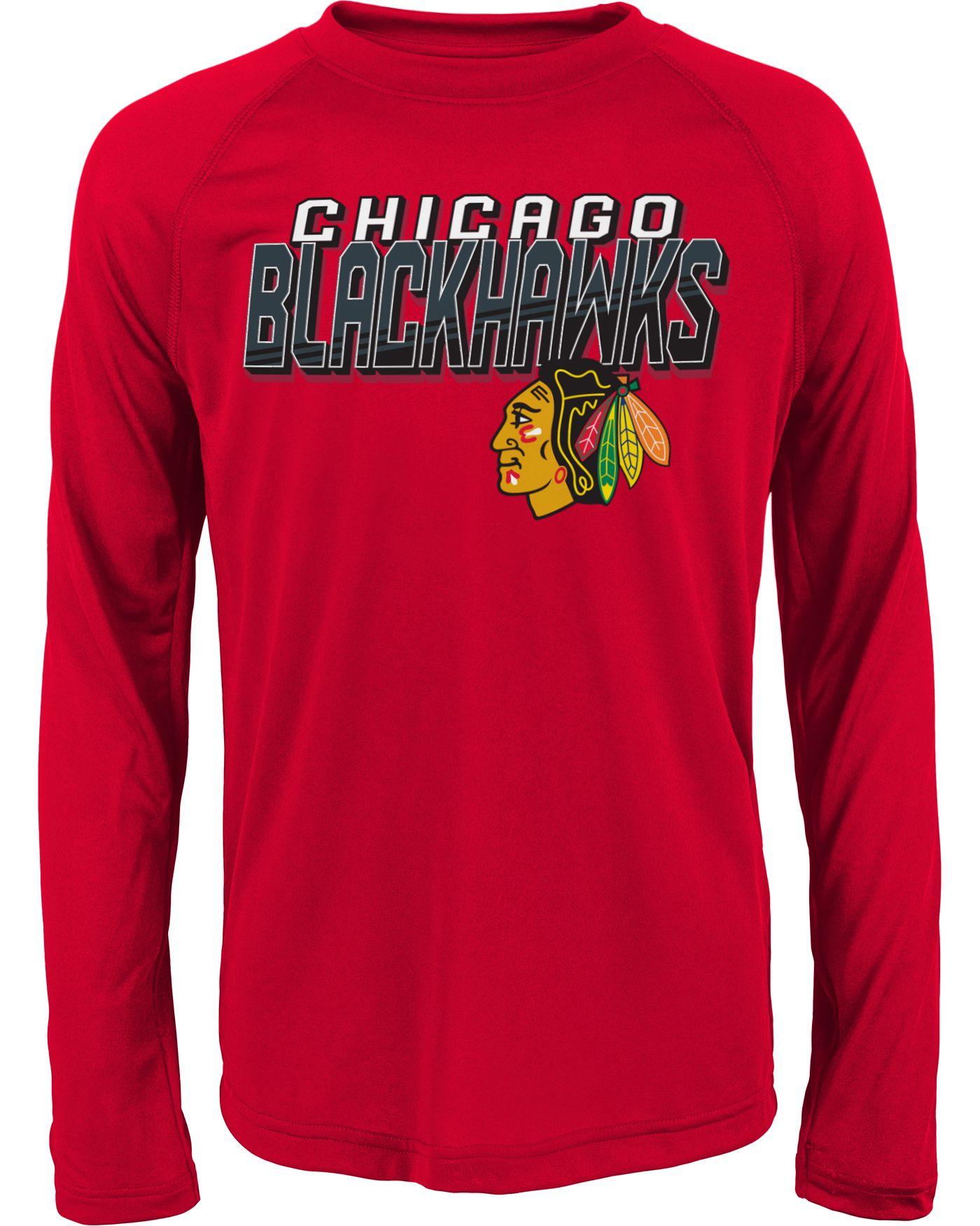 NHL Youth Chicago Blackhawks Rink Bound Red Long Sleeve Shirt