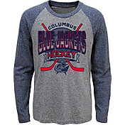 NHL Youth Columbus Blue Jackets Homerink Navy Raglan T-Shirt