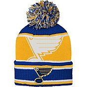 NHL Youth St. Louis Blues Grinder Blue Pom Knit Beanie