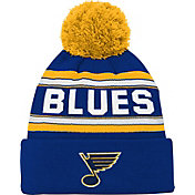 NHL Youth St. Louis Blues Wordmark Blue Pom Knit Beanie