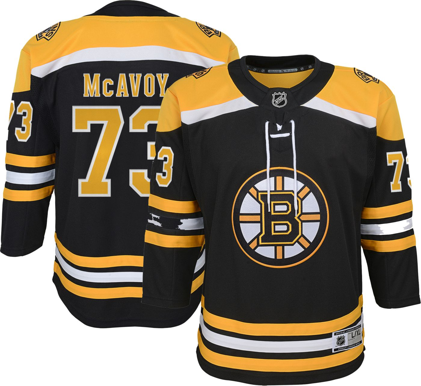 NHL Youth Boston Bruins Charlie McAvoy #71 Premier Home Jersey