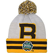 NHL Youth 2019 Winter Classic Boston Bruins White Pom Knit Beanie