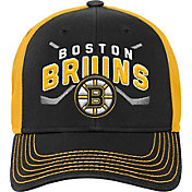 NHL Youth Boston Bruins Basic Strucutred Black Adjustable Hat