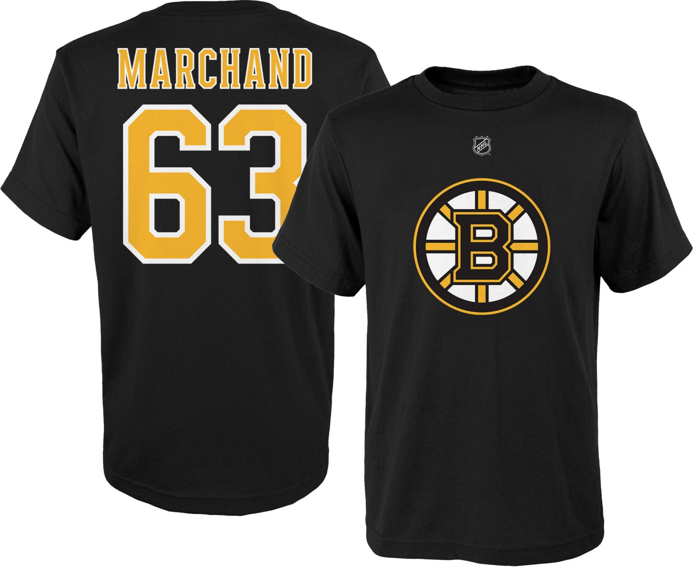 NHL Youth Boston Bruins Brad Marchand #63 Black Tee