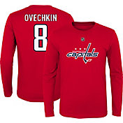 NHL Youth Washington Capitals Alex Ovechkin #8 Red Long Sleeve Player Shirt