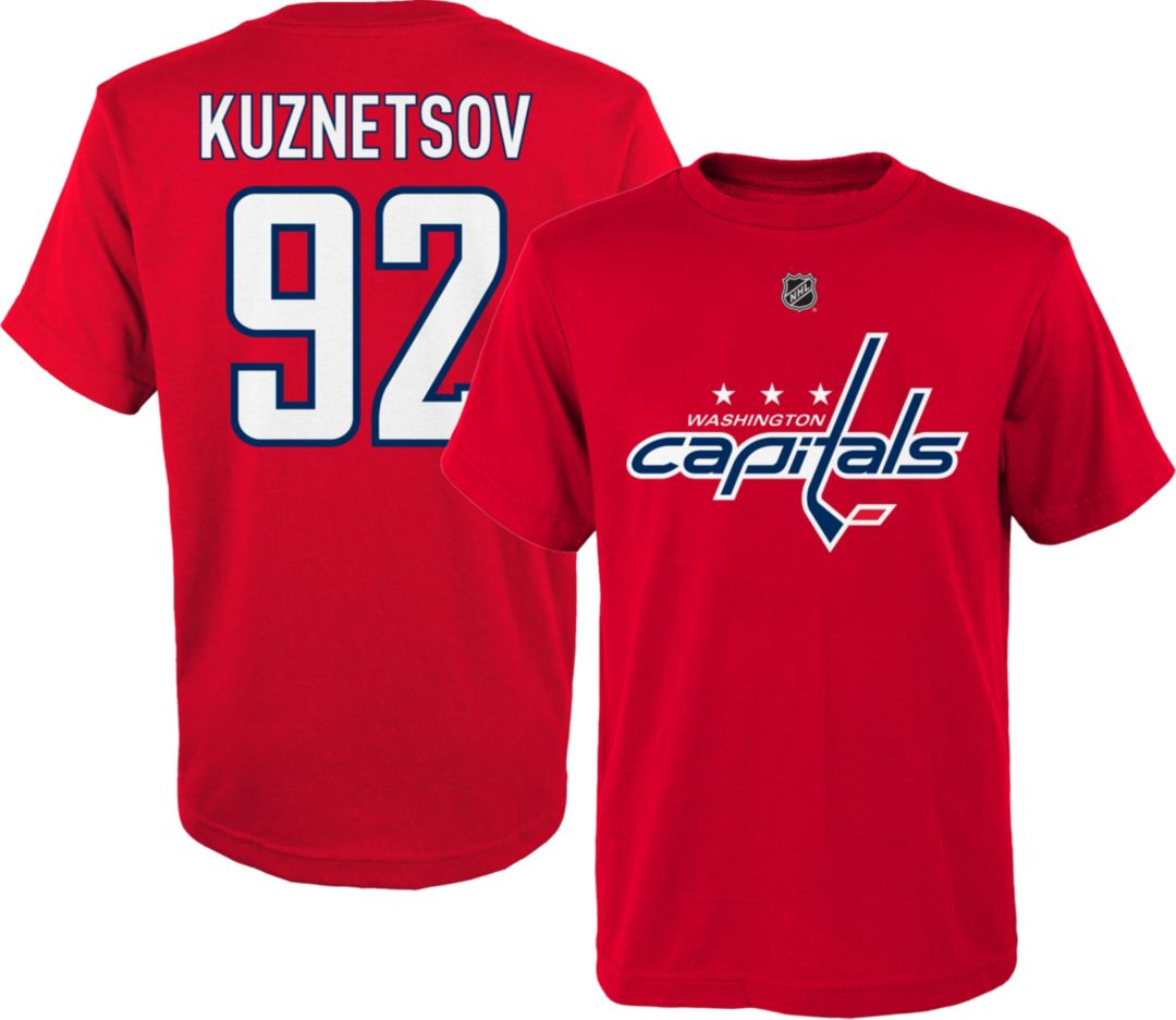 size 40 c71d9 67405 NHL Youth Washington Capitals Evgeny Kuznetsov #92 Red T-Shirt