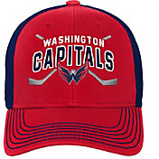 NHL Youth Washington Capitals Basic Strucutred Red Adjustable Hat