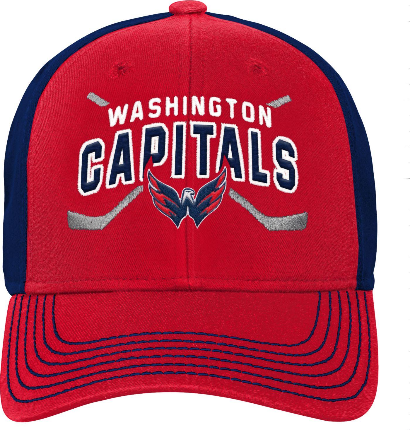 NHL Youth Washington Capitals Basic Strucutred Red Adjustable Hat