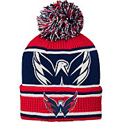 NHL Youth Washington Capitals Grinder Red Pom Knit Beanie
