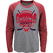 NHL Youth Washington Capitals Home Rink Red Raglan T-Shirt