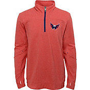 NHL Youth Washington Capitals Polymer Red Quarter-Zip Pullover